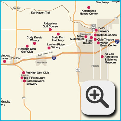 Paw Paw Attractions Map