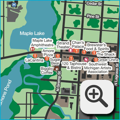 Paw Paw Downtown Map